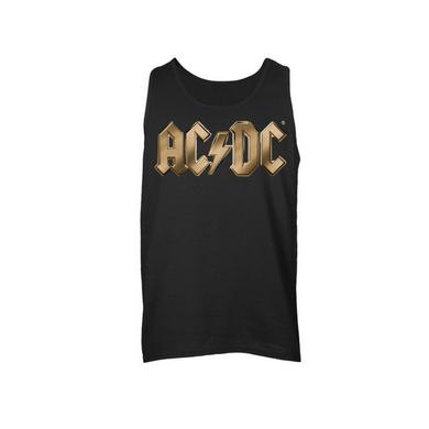 AC/DC Gold Logo Sleeveless Unisex Muscle Tee