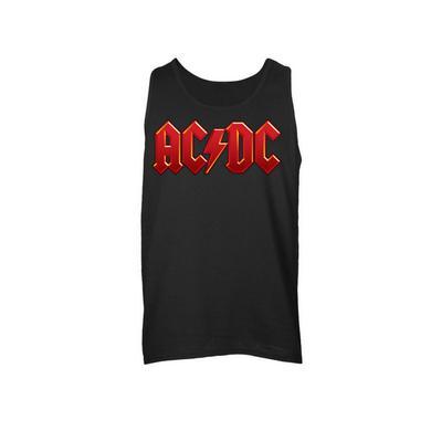 AC/DC Red Logo Sleeveless Unisex Muscle Tee