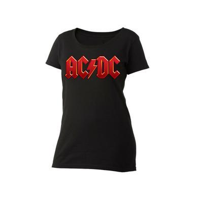 AC/DC Red Logo Women's Scoop Neck T-Shirt