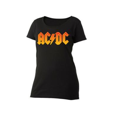 AC/DC Fire Logo Women's Scoop Neck T-Shirt