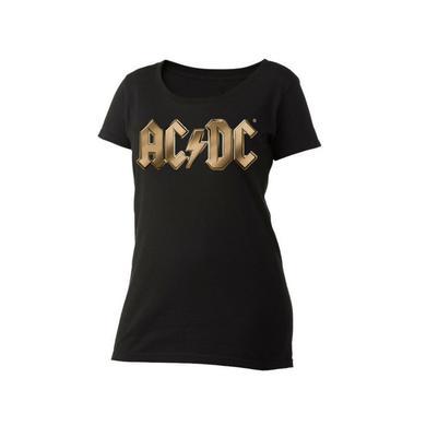AC/DC Gold Logo Women's Scoop Neck T-Shirt
