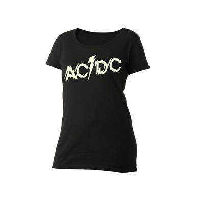 AC/DC Splintered Logo Women's Scoop Neck T-Shirt