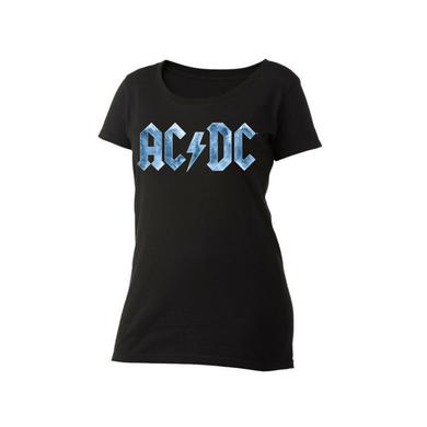 AC/DC Ice Logo Women's Scoop Neck T-Shirt