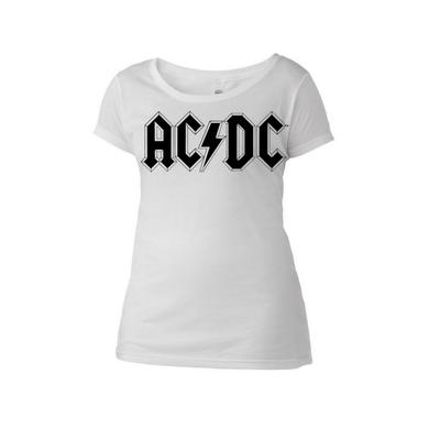 AC/DC Diamond Logo Women's Scoop Neck T-Shirt