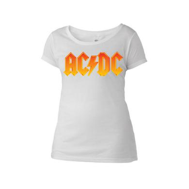 AC/DC Fire Logo Women's Scoop Neck T-Shirt