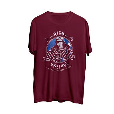 AC/DC High Voltage Rock-N-Roll Maroon T-shirt