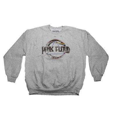 Pink Floyd Vintage Eclipse Logo Tattered Crew Neck Sweatshirt
