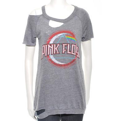 Pink Floyd Women's Circle Logo Destroyed T-Shirt
