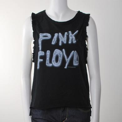 Pink Floyd Women's Sleeveless Ruffle Punk Rock T-Shirt