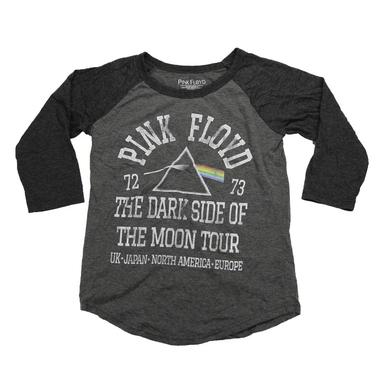 Pink Floyd Kids Glitter Rainbow Dark Side Tour Raglan