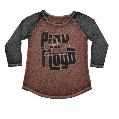 Pink Floyd Girls Burnout Fill In Logo Raglan