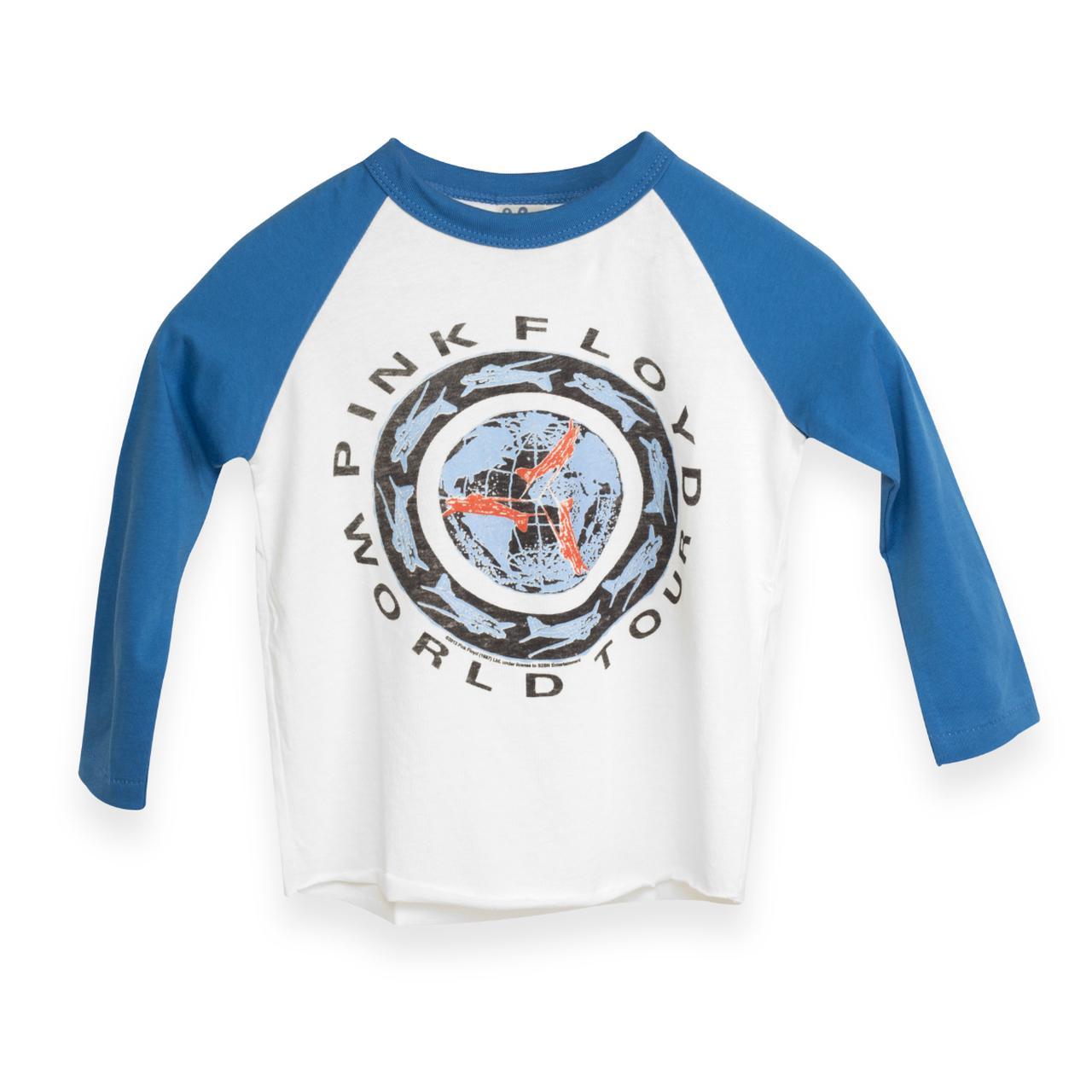 Pink Floyd Kids World Tour Globe Raglan T-Shirt 6b93094616