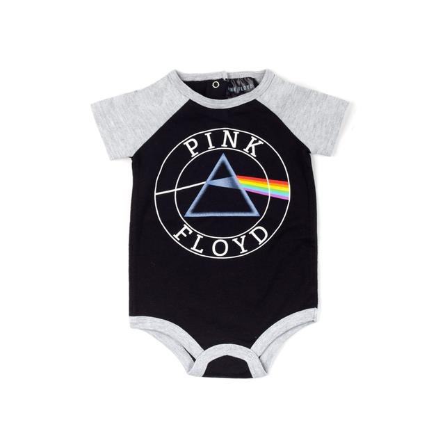 Pink Floyd The Dark Side of the Moon Prism Logo Black Onesie