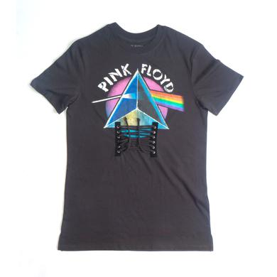 Pink Floyd Ombre Prism Design Black Strings T-Shirt