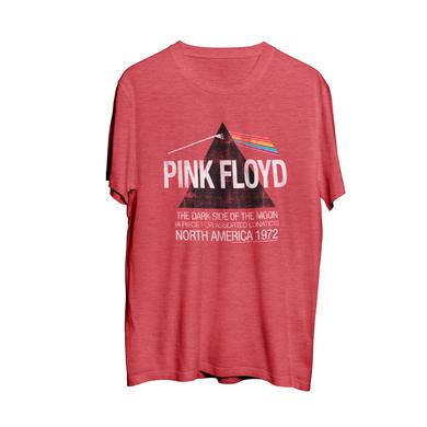Pink Floyd  North American Dark Side Red Men's Tour T-Shirt