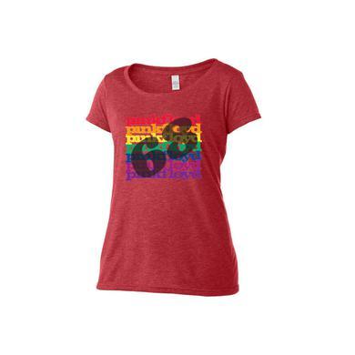 Pink Floyd Women's Scoop Neck Rainbow '68 T-Shirt