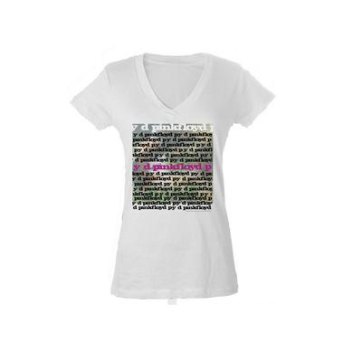Pink Floyd Women's V- Neck py d Album Artwork T-Shirt