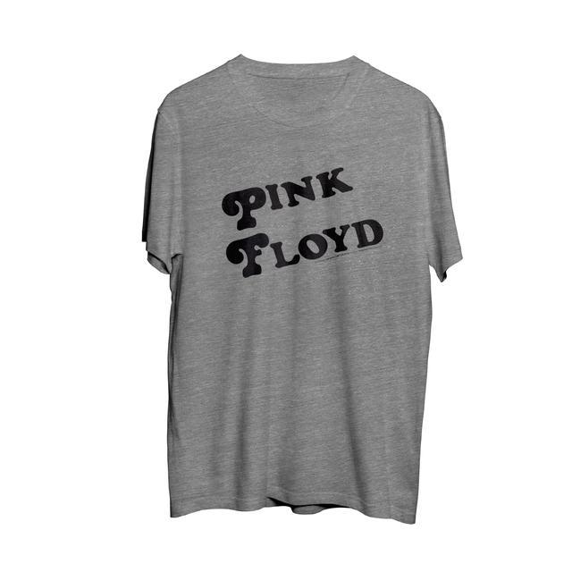 Pink Floyd Black Band Logo w/ Tour Logo Grey T-Shirt
