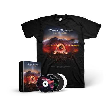 David Gilmour Live At Pompeii - Deluxe Edition 2-CD/2 Blu-Ray Boxset + T-Shirt Bundle