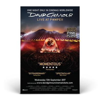 David Gilmour Live at Pompeii Official Movie Poster - English