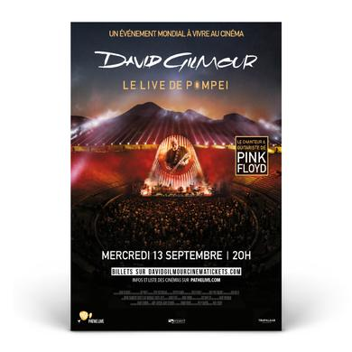 David Gilmour Live at Pompeii Official Movie Poster - French