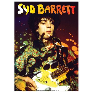 Syd Barrett Paisley Plays Glass Print