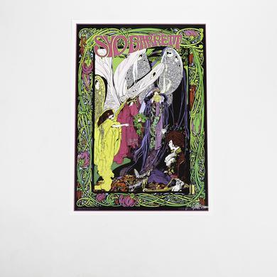 Syd Barrett Signed Bob Masse Faerie Poster