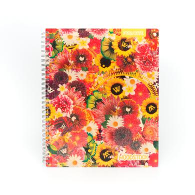 Woodstock Glitter Flowers/Sunflower Cover Notebook