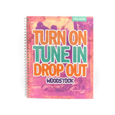 Woodstock Turn on Tune In Drop Out Notebook