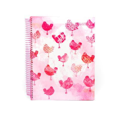 Woodstock Pink Birds Cover Notebook