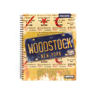 Woodstock Ticket/License Plate Cover Notebook