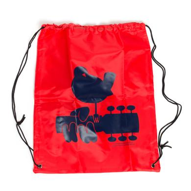Woodstock Red Drawstring Dove Bag