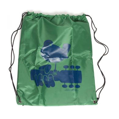 Woodstock Green Drawstring Dove Bag