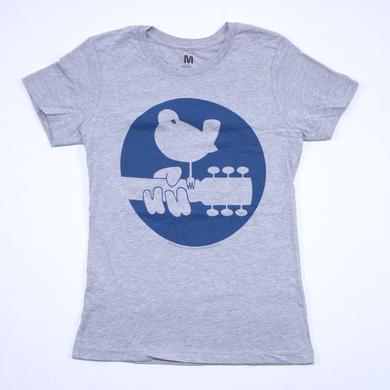 Woodstock Girls Blue Circle Dove Logo T-Shirt