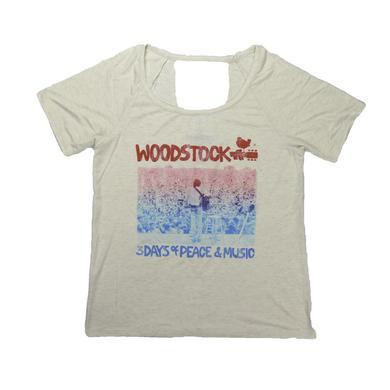 Woodstock Women's Deep V Sea Of People T-Shirt
