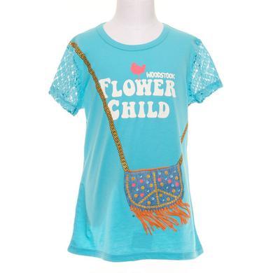 Woodstock Flower Child Girls Tee