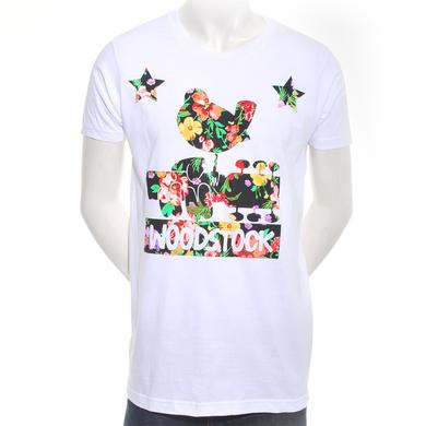 Woodstock Men's Floral Logo Dove T-Shirt
