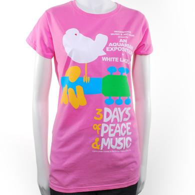 Woodstock Women's Pink Original Event T-Shirt