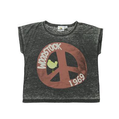 Woodstock Women's Peace Sign Crop Top