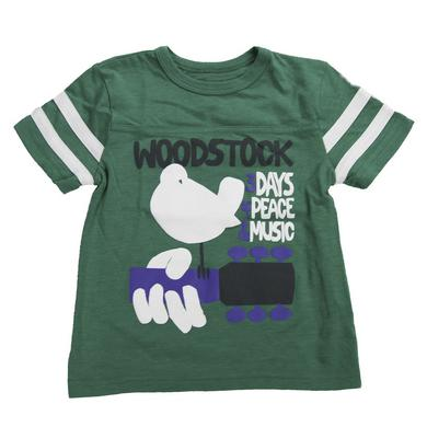 Woodstock Kids Football-Style Striped Sleeve T-Shirt