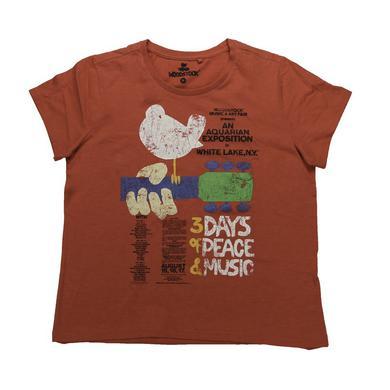 Woodstock Women's Loose Cut Original Event T-Shirt
