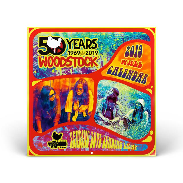 Woodstock 50th Anniversary 2019 Wall Calendar