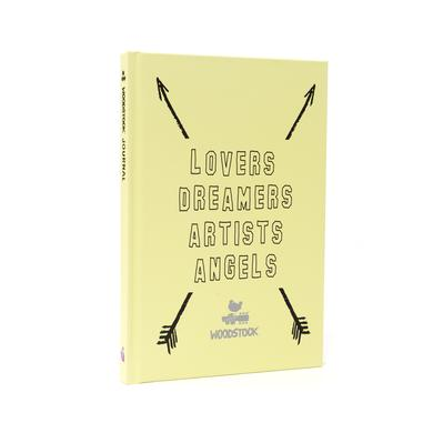 Lovers Dreamers Artists Angels Woodstock Green Notebook