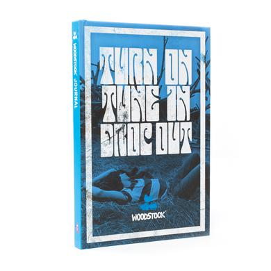 Turn on Tune in Drop out Blue Woodstock Notebook