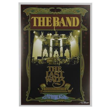 The Band Signed Bob Masse The Last Waltz Poster