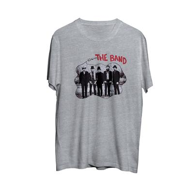 The Band Album Cover Thought Bubble Red Logo Lettering Grey T