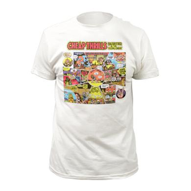 Big Brother & The Holding Company White Cheap Thrills Cartoon T-Shirt