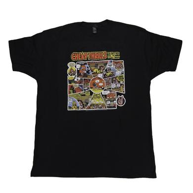 Big Brother & The Holding Company Black Cheap Thrills Cartoon T-Shirt