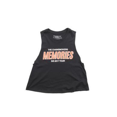 The Chainsmokers Memories Crop Tanktop (Black)