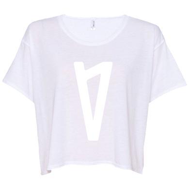 Lauv V Logo Ladies Boxy Tee (White)